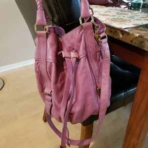 The Sak Mauve/Pink Satchel
